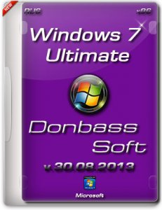 Windows 7 Ultimate SP1 DonbassSoft v.30.08.13 (x86) (2013) Русский