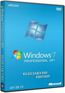 Windows 7 Professional SP1 x86/x64 Elgujakviso Edition (v01.09.13) Русский