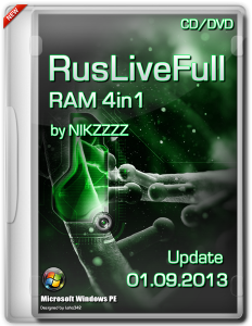 RusLiveFull RAM 4in1 by NIKZZZZ CD/DVD (01.09.2013) Русский + Английский