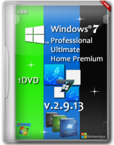 Windows 7 SP1 (x86) 3 in 1 (Ultimate)(Professional)(Home Premium) v. 2.9.13 by Romeo1994 (2013) Русский