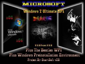 Windows 7 Ultimate SP1 Plus WPI USB PE x86 x64 StartSoft 28 (2013) Русский