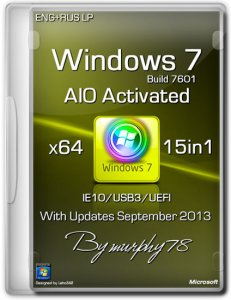 Windows 7 x64 IE10/USB3 15in1 AIO Activated September (2013) Русский + Английский