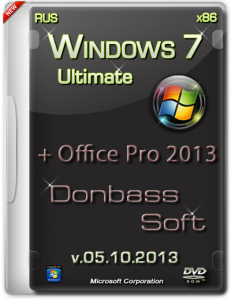 Windows 7 Ultimate SP1 Donbass Sjft (Office 2013Pro)v.5.10.13 (x86) [2013] Русский