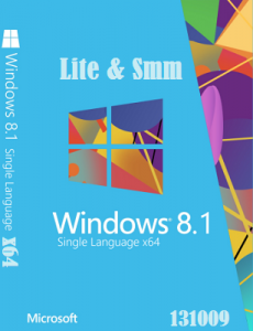 Microsoft Windows 8.1 Single Language 6.3.9600 х64 RU Lite-smm X-XIII by Lopatkin (2013) Русский