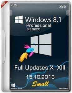 Microsoft Windows 8.1 Pro 6.3.9600 x86 RU FullUpdates X-XIII Small by Lopatkin (2013) Русский