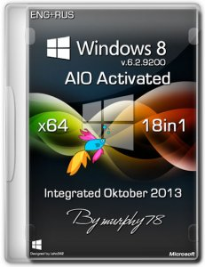 Windows 8 x64 AIO 18in1 Activated Integrated Oktober 2013 (2013) Русский + Английский