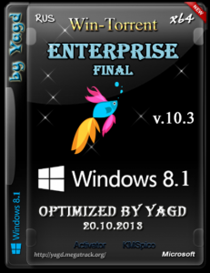Windows 8.1 Enterprise Final (x64) Optimized by Yagd v.10.3 [20.10.2013] Русский