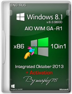 Windows 8.1 x86 AIO WIM GA-R1 Integrated Oktober 2013 (Русский + Английский)