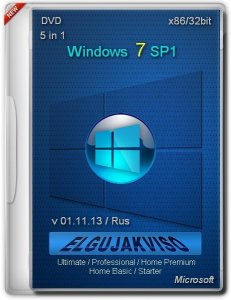 Windows 7 SP1 5in1 x86 Elgujakviso Edition (v01.11.13) (2013) Русский