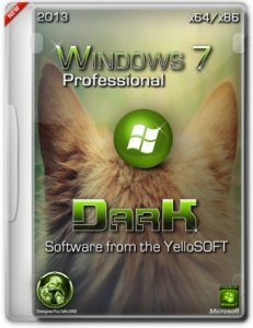 Windows 7 Professional Dark SP1 YelloSOFT (x86/x64) (2013) Русский
