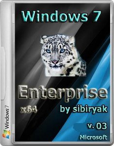 Windows 7 SP1 Enterprise by sibiryak v. 03 (64) (2013) Русский