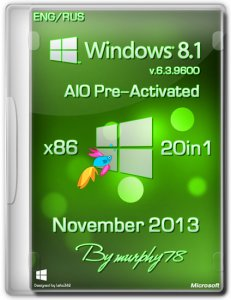 Windows 8.1 x86 AIO 20in1 Pre-Activated November 2013 (Русский + Английский)