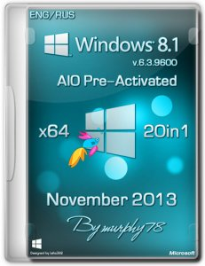 Windows 8.1 x64 AIO 20in1 Pre-Activated November 2013 (������� + ����������)