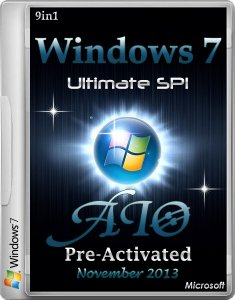 Windows 7 Ultimate SP1 AIO 9in1 Pre-Activated November 2013 (Русский + Английский)