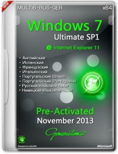 Windows 7 Ultimate SP1 x64 Pre-Activated IE11 November 2013 (MULTI6/ENG/RUS/GER)