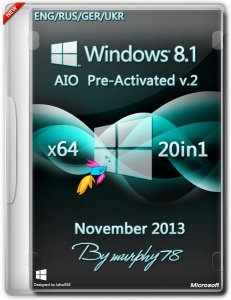 Windows 8.1 x64 AIO 20in1 Pre-Activated v.2 November 2013 (ENG/RUS/GER/UKR)