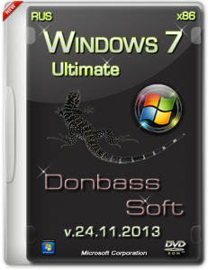 Windows 7 Ultimate SP1 Donbass Soft v.24.11.13 (x86) (2013) Русский