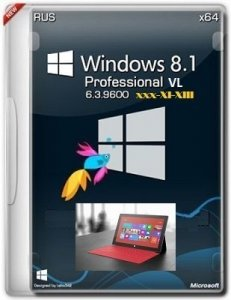 Microsoft Windows 8.1 Pro VL 6.3.9600 х64 RU Tablet PC xxx XI-XIII by Lopatkin (2013) Русский