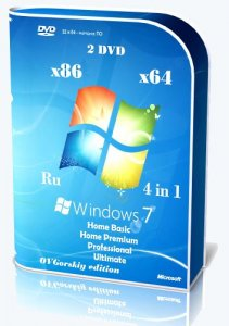 Microsoft Windows 7 SP1 x86/x64 Ru 4 in 1 Origin-Upd 11.2013 by OVGorskiy® 2DVD [Ru]