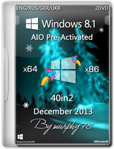 Windows 8.1 x86/x64 AIO 40in2 Pre-Activated DaRT 8.1 Dec2013 (ENG/RUS/GER/UKR)