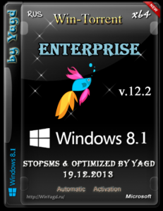 Windows 8.1 Enterprise StopSMS (x64) Optimized by Yagd v.12.2 [19.12.2013] Русский