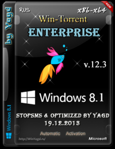 Windows 8.1 Enterprise StopSMS (x86-x64) Optimized by Yagd v.12.3 [19.12.2013] Русский