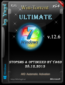 Windows 7 Ultimate StopSMS Optimized by Yagd AIO v.12.6 (x64) [28.12.2013] Русский