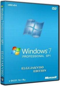 Windows 7 Professional SP1 x86/x64 Elgujakviso Edition (v04.01.14) Русский
