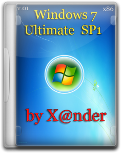 Windows 7 Ultimate SP1 by X@nder v.0.1 (32bit) (2014) Русский