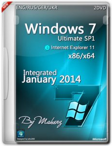 Windows 7 Ultimate SP1 (2 DVD)Integrated January 2014 By Maherz (ENG+RUS+GER+UKR) (x86x64)(2014)