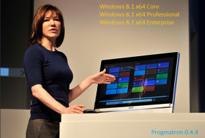 Windows 8.1 Core/Professional/Enterprise 6.3 9600 MSDN v.0.4.4 PROGMATRON (x64) (2014) Русский