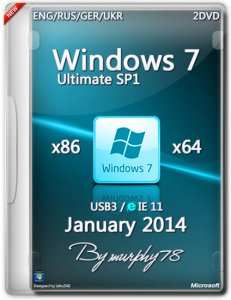 Windows 7 Ultimate SP1 USB3/IE11 (x86/x64) (Jan2014) [ENG/RUS/GER/UKR] 2DVD