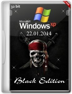 Windows XP Professional x86 SP3 Black Edition 22.01.2014 (ENG+RUS MUI+Language Packs)