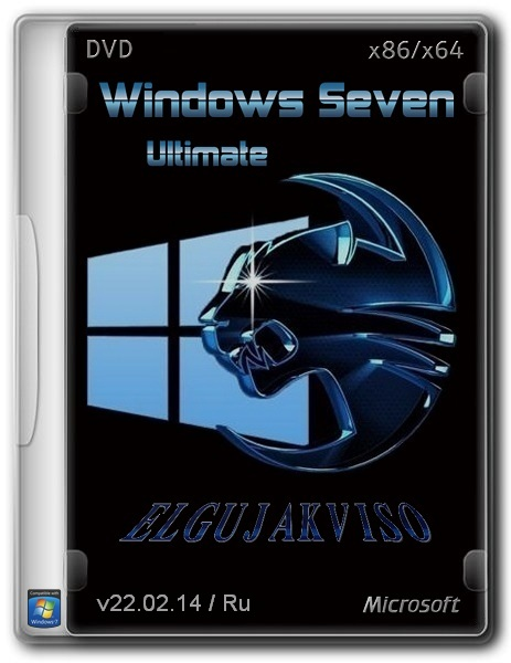 Windows 7 Ultimate SP1 Elgujakviso Edition (x86/x64) (v22.02.14) [Ru]