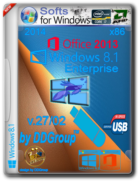 Windows 8.1 Enterprise&Office 2013 Pro vl x86 [v.27.02]by DDGroup™ (2014) [Ru]