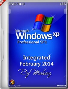 Windows XP Pro SP3 Integrated February 2014 By Maherz (x86) (2014) [ENG/RUS]
