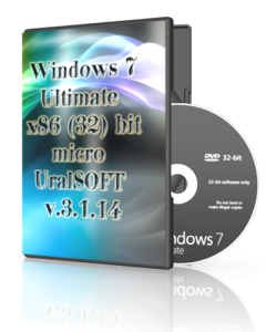 Windows 7x86 Ultimate micro UralSOFT v.3.1.14 (2014) Русский