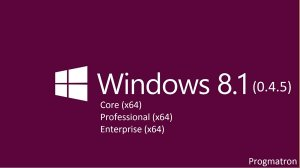 Windows 8.1 Core/Professional/Enterprise 6.3 9600 MSDN v.0.4.5 Progmatron (x64) (2014) [Rus]