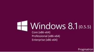 Windows 8.1 Core/Professional/Enterprise 6.3 9600 MSDN v.0.5.5 Progmatron (x86/x64) (2014) [Rus]
