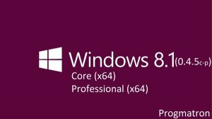 Windows 8.1 Core/Professional 6.3 9600 MSDN v.0.4.5c-p Progmatron (x64) (2014) [Rus]