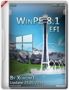 WinPE 8.1 x86-64 UEFI 25.01.14 by Xemom1 [Repack 05.03.2014] [*fba - скрытый раздел][2014, RUS]