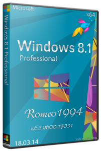 Windows 8.1 Professional v.6.3.9600.17031 (x64) (18.03.14) by Romeo1994 (2014) Русский