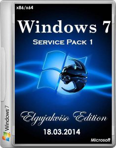 Windows 7 Ultimate SP1 Elgujakviso Edition v.18.03.14 (х86/х64) (2014) [RUS]