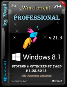 Windows 8.1 Professional StopSMS (x64) Optimized by Yagd v.21.3 [21.03.2014] [Rus]