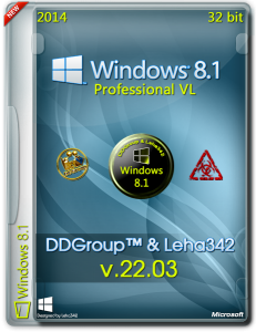 Windows 8.1 Pro vl x86 [v.22.03] by DDGroup™&Leha342 [Ru]