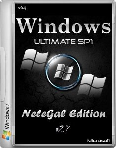 Windows 7 SP1 Ultimate x64 NeleGal Edition v2.7 [Ru]