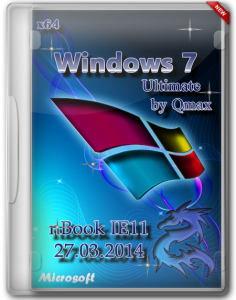 Windows 7 SP1 Ultimate nBook IE11 by Qmax® (x64) (2014) [Rus]