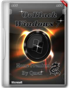 Windows 7 SP1 Home Premium OrBlack IE11 by Qmax® (x86x64) (2014) [Rus]