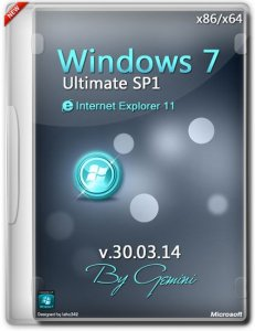 Windows 7 Ultimate SP1 v.30.03.14 by Gemini (x86-x64) (2014) [Ru]
