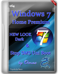 Windows 7 SP1 Home Premium NEW LOOK Dark IE11 by Qmax� (x64) (2014) [Rus]